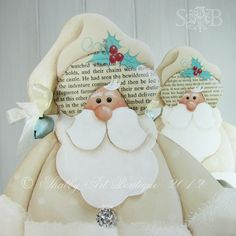 Shabby Art Boutique: White Christmas Santa