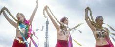"""""""La Tymoshenko è il nuovo pupazzo di Putin"""": le Femen sbarcano a Parigi  http://tuttacronaca.wordpress.com/2014/02/25/la-tymoshenko-e-il-nuovo-pupazzo-di-putin-le-femen-sbarcano-a-parigi/"""