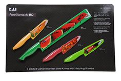 Pure Komachi HD 4 Coated Carbon Stainless Steel Knives with Matching Sheaths (Melon, Citrus, Tomato, and Berry) Pure Komachi HD http://www.amazon.com/dp/B00KCEQIUU/ref=cm_sw_r_pi_dp_y0tQvb192HPBC
