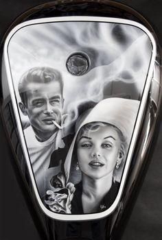 James Dean and Marilyn Monroe H-D tank