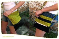 Bolsa Carteiro com Dobra - Pode ser usada tanto aberta quanto dobrada!