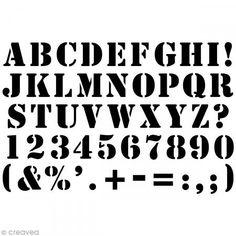 Pochoir Home Déco 10 X 15 Cm   Alphabet Industriel