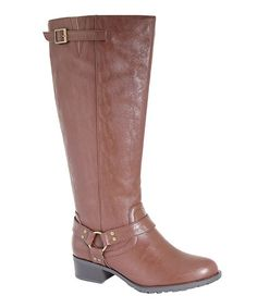 This Cognac Nevada Extra Wide-Calf Boot is perfect! #zulilyfinds