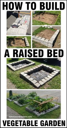 Vegetable Garden DIY! How To Build A Raised Bed Vegetable Garden! Did you know there are some big advantages with a raised veggie garden versus a standard garden on level ground? Check It Out!