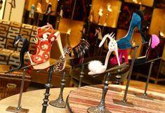 From left: 1. Tom Ford black satin jewel-heel sandal, ; 2. Charlotte Olympia red suede Anastasia sandal, ; 3. Jimmy Choo Victoria leopard-print ponyskin pump,  4. Fendi brown suede lace-up sandal with fur,  5. Giuseppe Zanotti pink fur spike sandal, ; 6. Miu Miu suede peep-toe pump with glitter sole, ; 7. Nicholas Kirkwood teal suede pump,  8. Christian Louboutin black suede pump with pink fur, #charlotteolympiaheelsred #giuseppezanottiheelspeeptoe #giuseppezanottiheelsfun…
