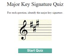 Major Key Signature Quiz :http://www.stringquest.com/major-key-signature-quiz/