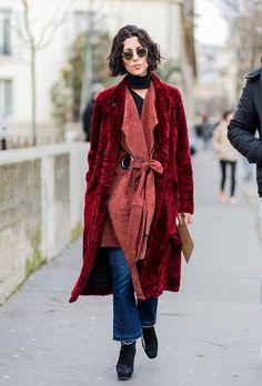 Paris Fashion week street style   Urban velvet mood