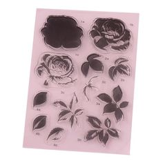 [Visit to Buy] CCINEE 1PCS Flower Clear Stamp DIY Silicone Seals Scrapbooking/Card Making/Photo Album Decoration Supplies #Advertisement