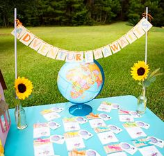 Our Adventure Awaits banner was used to decorate this UP themed party! Lovely photos!