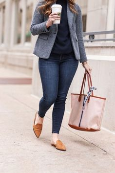 Everyday Winter Work Outfit Inspiration - Thrifty Pineapple - Winter Outfits for Work Outfit Jeans, Jeans Outfit For Work, Work Attire, Curvy Work Outfit, Office Attire, Office Wear, Office Outfits Women Casual, Business Casual Outfits, Work Casual