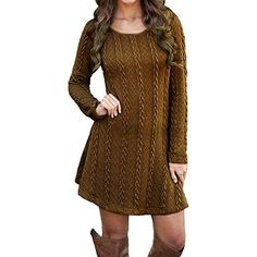 Cheap vestidos mujer Buy Quality vestidos mujer directly from China mini dress Suppliers: Women Casual Winter Autumn Dress Ladies Long Sleeve Crewneck Jumper Slim Casual Knitted Sweater Mini Dress Vestidos Mujer 2016 Winter Sweater Dresses, Cable Knit Sweater Dress, Warm Dresses, Long Sleeve Sweater Dress, Knit Dress, Casual Dresses, Dress Long, Sleeve Dresses, Mini Dresses
