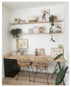 Home Office Space, Home Office Design, Home Office Decor, House Design, Office Ideas, Small Office Decor, Office Decorations, Office Set, Design Room