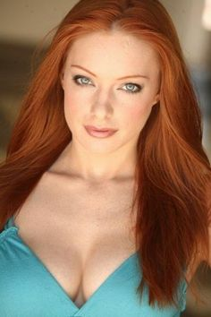 Stunning redhead with piercing eyes.