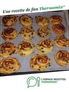escargot aux chocolats par karinejordan. Une recette de fan à retrouver dans la catégorie Pains & Viennoiseries sur www.espace-recettes.fr, de Thermomix<sup>®</sup>.