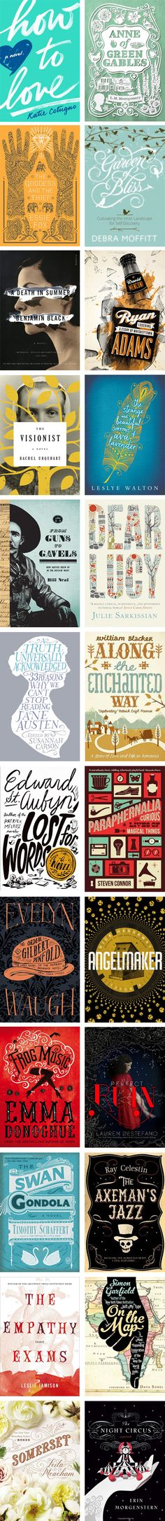 A plethora of book cover designs