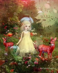 Cecelia  Digital Illustration / Mixed Media Art by littleghost,