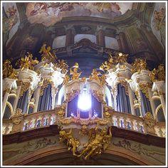 Rita Crane Photography: Prague / Baroque church / St. Nicholas church / pipe organ / interior / Angels Playing Heavenly Music, Prague by Rita Crane Photography, via Flickr