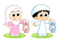 Illustration about A Muslim Boy and Girl are carrying Ramadan Lanterns. Illustration of child, fanous, east - 87355794 Little Boy Drawing, Boy And Girl Drawing, Baby Drawing, Drawing For Kids, Ramadan Cards, Ramadan Gifts, Ramadan Mubarak, Ramadan Lantern, Cute Good Night