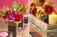 Centerpieces | Two vibrant centerpieces | At Home with Kim Vallee