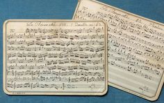 Antique French Music Cards: Free Digital Downloads - Just Something I Made