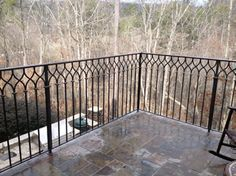 Wrought Iron Porch Railings | Wrought Iron Deck Railing | Southern Heritage Landscaping, LLC