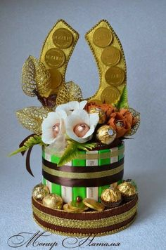 Candy Bouquet, Christmas Crafts For Kids, Snow Globes, Creative, Flowers, Diy, Gifts, Decor, Gift Boxes