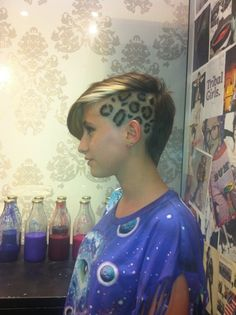 undercut with leopard spots. Too bad I'm not brave enough..