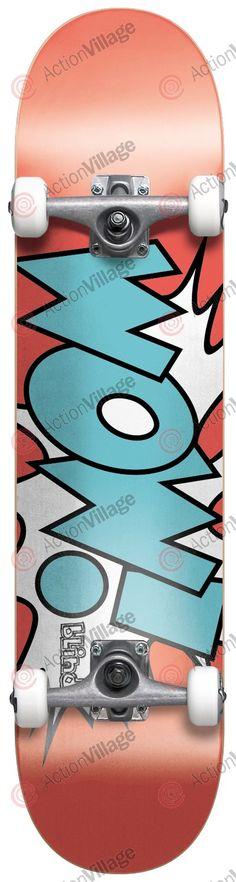 Blind Wow! - Watermelon/Cyan - 7.3in x 31in - Youth Complete Skateboard - Complete Skateboards - Skate