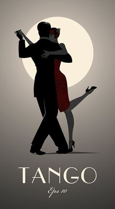 Tango by moonlight. Romantic, sensual and sexy when you dance the dance of the heart in the streets of Buenos Aires and you can feel the Tango take over your body. Tango Art, Dancing Drawings, Tango Dancers, Inspiration Art, Art Deco Posters, Dance Posters, Film Posters, Retro Poster, Under The Moon