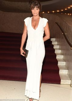 Fine wine: Helena Christensen is ageing like the best ofBeaujolais if her appearance at t...