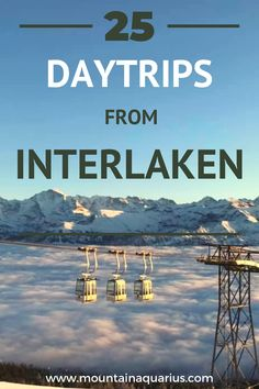 The only travel guide you need for your trip to Interlaken! With the most stunning day trips from Interlaken, like the Jungfraujoch, Blausee, Iseltwald and many more.. #SwissAlps #Switzerland #Mountains #Lauterbrunnen #BerneseOberland #MySwitzerland | Day trips Interlaken