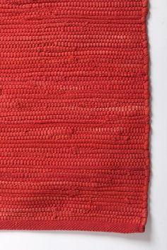 solid red rag rug