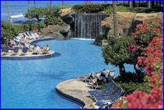 Hyatt Regency, Maui. Swim up bar under the falls, need I say more?