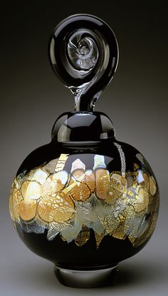 Art glass perfume bottle by Sharon Fujimoto