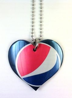 pepsi can upcycled necklace