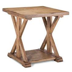 Farmhouse End Table  - Wood