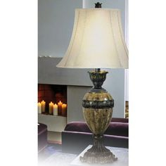KENROY HOME 32061BZM BARONESS TABLE LAMP - Click image twice for more info - See a larger selection of 3 way table lamp at http://tablelampgallery.com/product-category/3-way-table-lamps/  - home, home decor, lamp, lighting, gift ideas