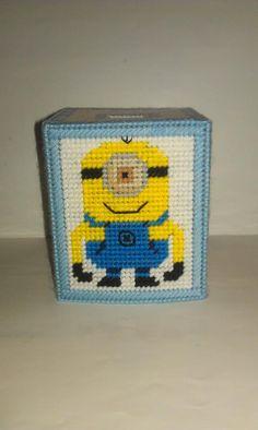 Handmade Despicable Me Tissue Box Cover Plastic