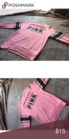 XS Victoria Secret PINK pullover Cute pullover by Victoria secret PINK Victoria's Secret Tops Sweatshirts & Hoodies