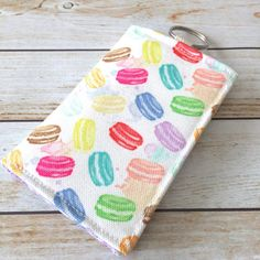 One Of A Kind Pastel Macarons Credit Card by LittleMissPoBean