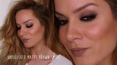 Unpolished Matte Brown Smoke Makeup Tutorial | Shonagh Scott | ShowMe Ma...