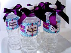 Princess Jasmine Digital Party PRINTABLE DIY Birthday Drink Labels
