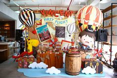 Decor from Vintage Travel Themed Birthday Party at Kara's Party Ideas. See more at karaspartyideas.com!