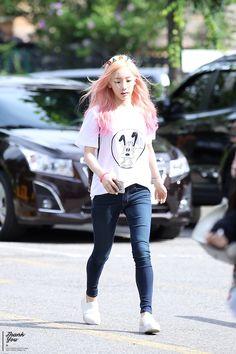 150710 SNSD Taeyeon @ Music Bank