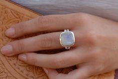 Fire flash Gemstone Ring,Sterling Silver 925 Ring,handmade Stylish Ring Labradorite multi stone Ring Adjustable ring Stacking Ring