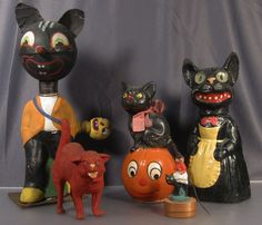 A collection of rare Halloween cats.