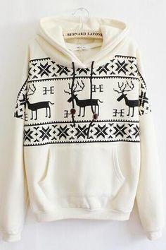 Fawn Hooded Fleece Sweater