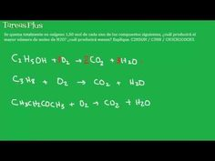 Estequiometría en la combustión de algunos orgánicos