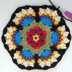 Transcendent Crochet a Solid Granny Square Ideas. Inconceivable Crochet a Solid Granny Square Ideas. Crochet Blocks, Granny Square Crochet Pattern, Crochet Squares, Crochet Granny, Crochet Motif, Crochet Stitches, Knit Crochet, Crochet Afghans, Granny Squares