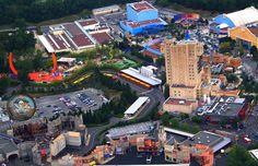 #Disneyland Paris. The Walt Disney Studios park seen from the sky air. Tower of Terror, Toy Story Playland,Toon studio, the stunt show, aladdin and studio 1 & 2 #DLP #DLRP TOT